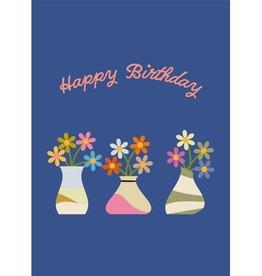 HAVA Creations Kaart met enveloppe Happy Birthday