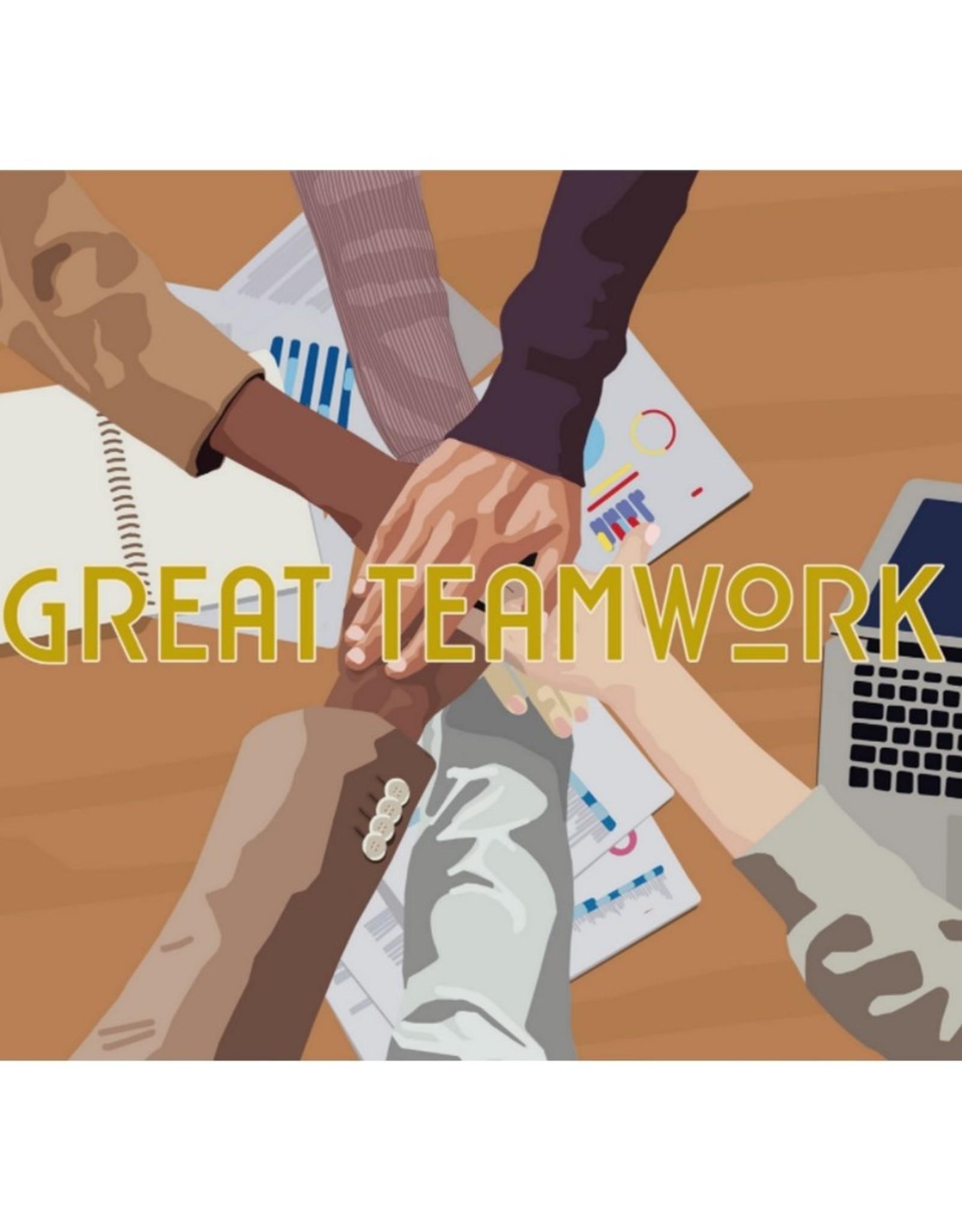 HAVA Creations Kaart met enveloppe Great Teamwork