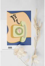 HAVA Creations Kaart met enveloppe Get well soon