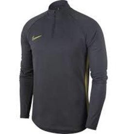 Nike ziptop sr grijs/geel