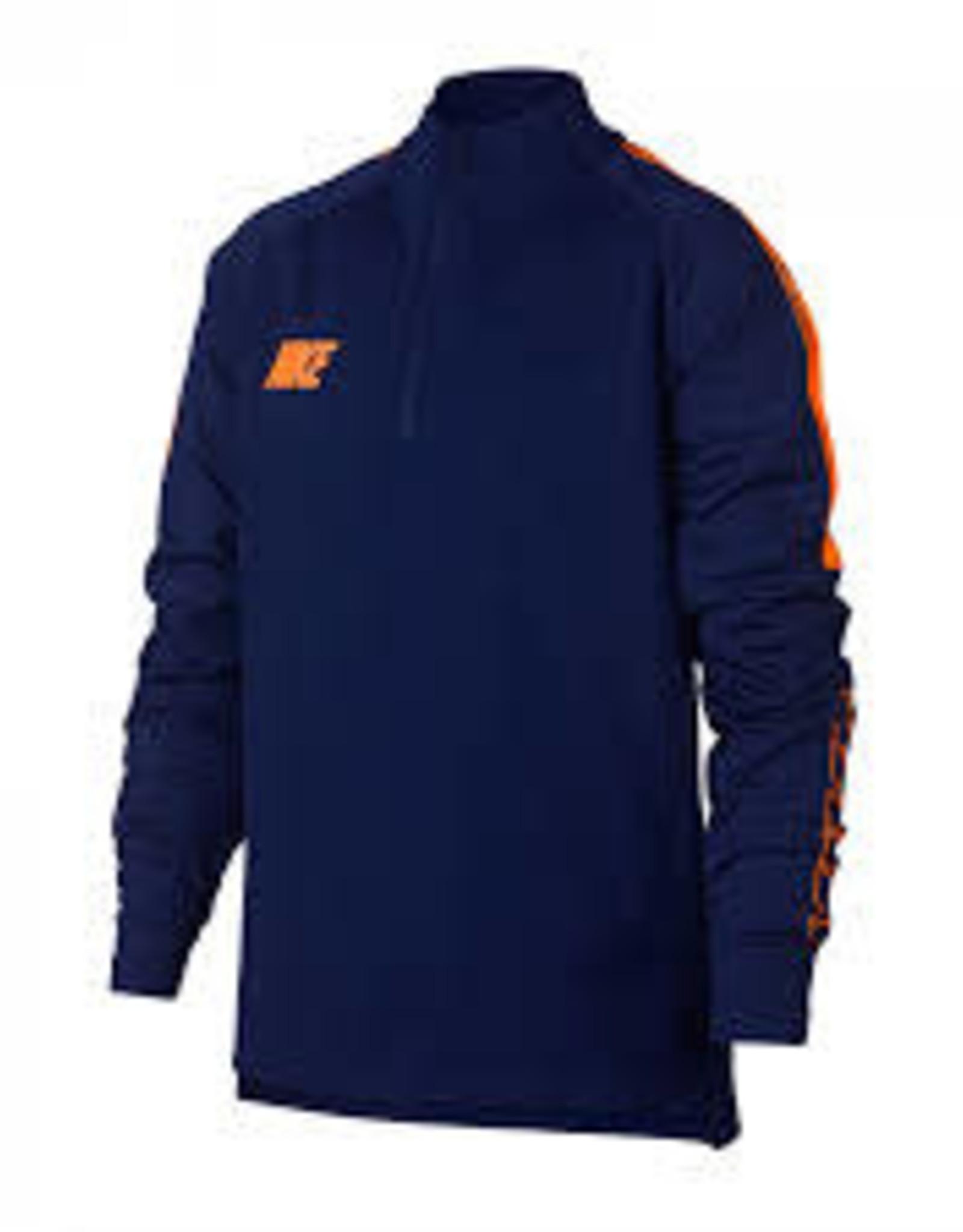 Nike ziptop trui blauw/oranje