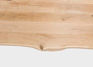 Tischplatte Eiche baumkante