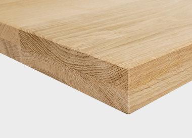 Tischplatte Eiche 40 mm (2-lagig)