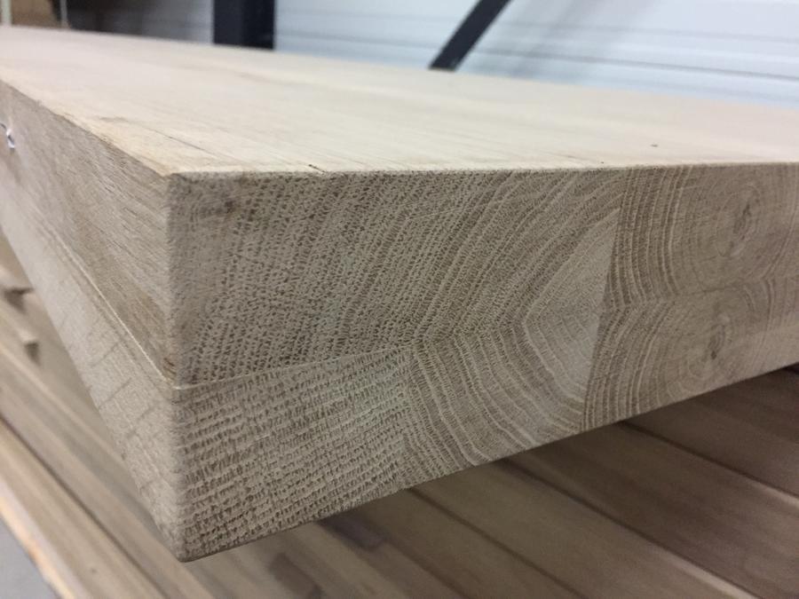 Tischplatte Wildeiche - 100x200-300 cm - 8 cm dick - 2-lagig verdickt - Asteiche (rustikal) - Eiche Tischplatte - Verleimt & künstlich getrocknet (HF 8-12%)
