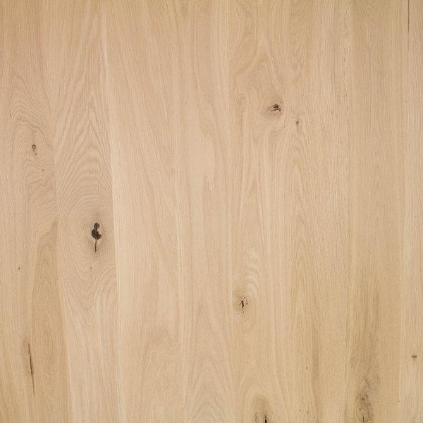 Arbeitsplatte Eiche - 4 cm dick - 122x140-300 cm - Eichenholz rustikal