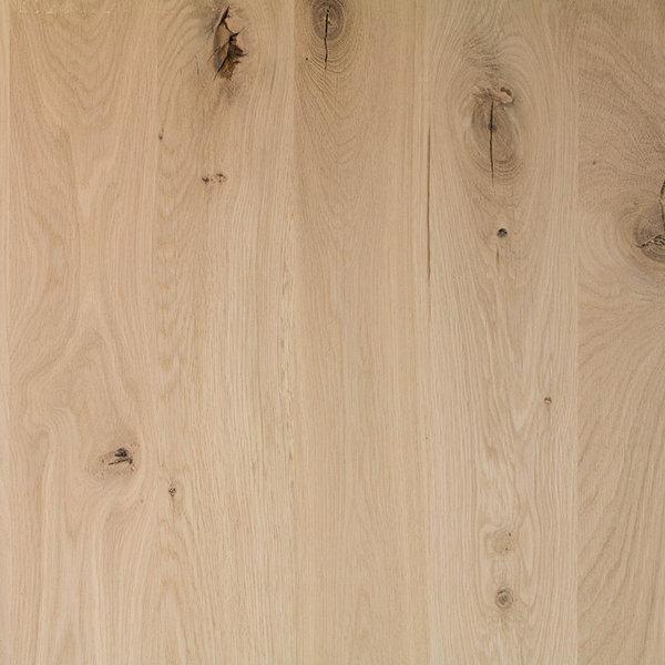 Arbeitsplatte Wildeiche - 4 cm dick - 122x140-300 cm - Asteiche (rustikal)