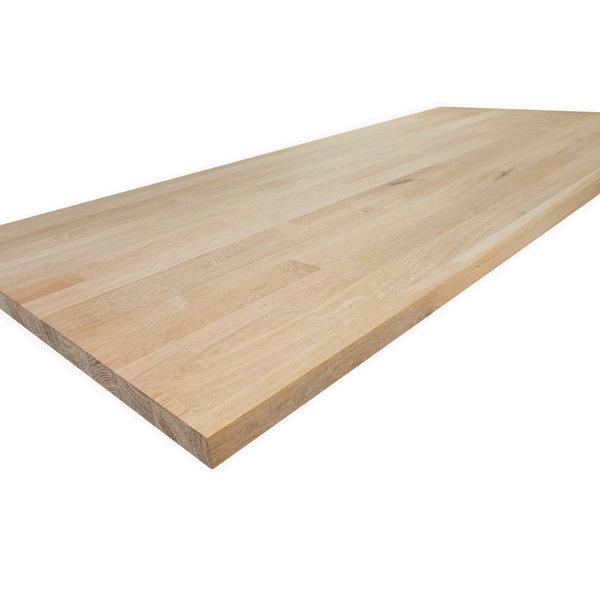 Arbeitsplatte Eiche keilgezinkt - 2 cm dick - Eichenholz rustikal