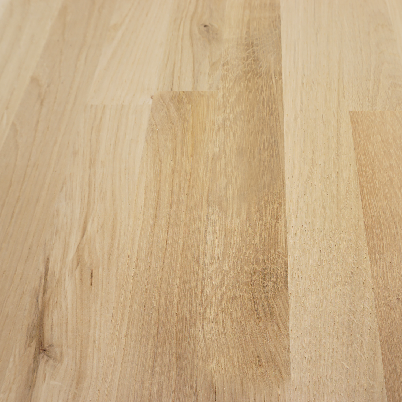 Arbeitsplatte Eiche massiv keilgezinkt - 2 cm dick - Eichenholz rustikal - Massivholz - Verleimt & künstlich getrocknet (HF 8-12%)