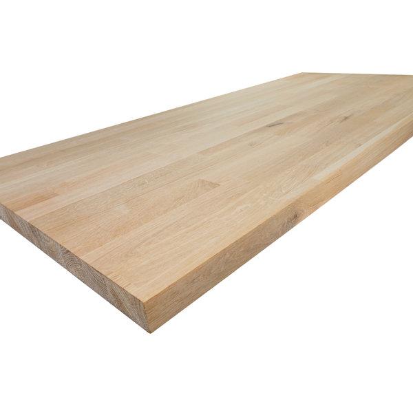 Arbeitsplatte Eiche keilgezinkt - 2,5 cm dick - Eichenholz rustikal