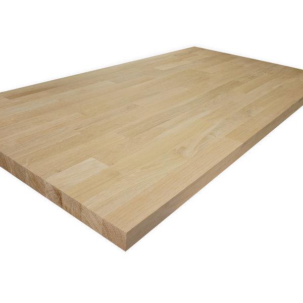 Arbeitsplatte Eiche keilgezinkt - 2,5 cm dick - Eichenholz A-Qualität