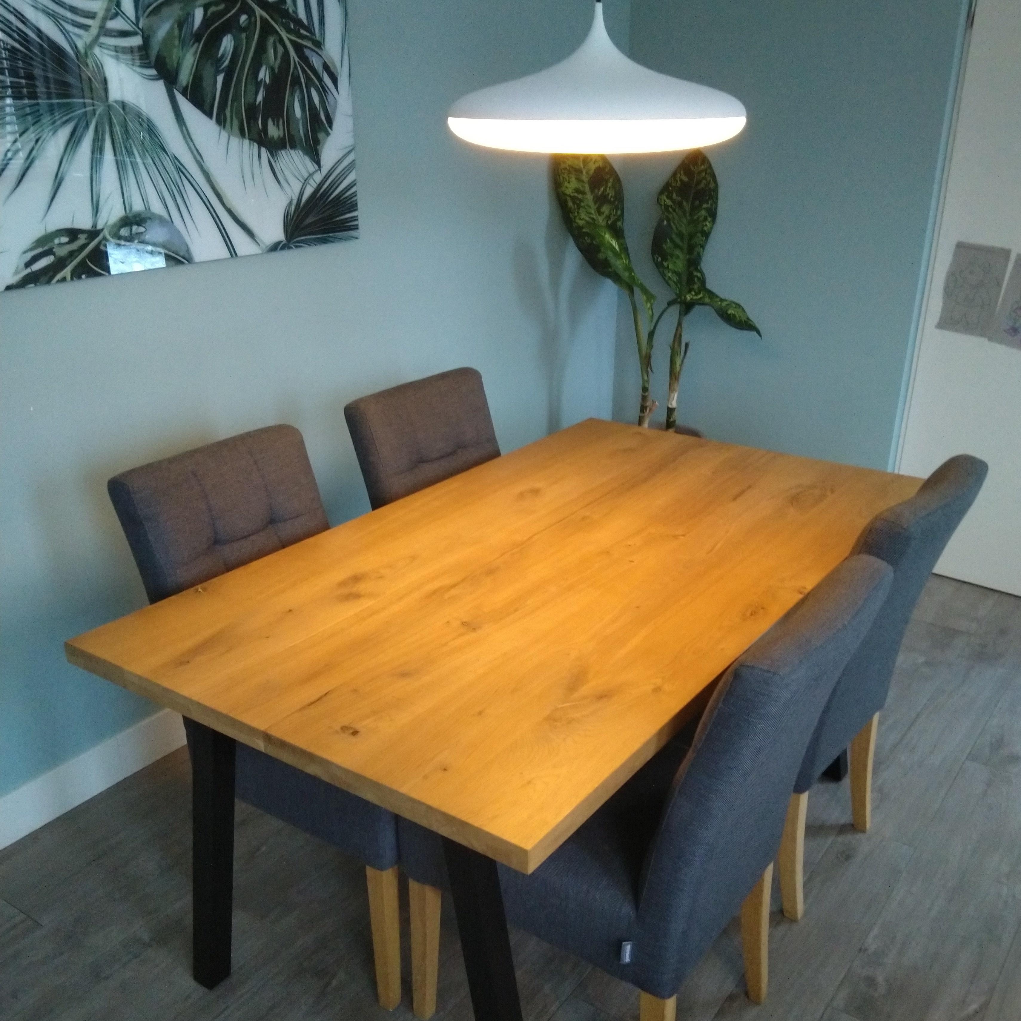 Tischplatte Eiche nach Maß - 4 cm dick (2-lagig) - Eichenholz rustikal - Eiche Tischplatte massiv - verleimt & künstlich getrocknet (HF 8-12%) - 50-120x50-350 cm
