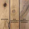 Tischplatte Eiche rund nach Maß - 6 cm dick (3-lagig) - Eichenholz rustikal - Durchmesser: 35 - 130 cm - Eiche Tischplatte rund - aufgedoppelt - verleimt & künstlich getrocknet (HF 8-12%)