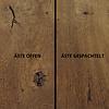Tischplatte Eiche oval - 3 cm dick - Eichenholz rustikal ellipse - Gebürstet & geräuchert  - Eiche Tischplatte massiv - verleimt & künstlich getrocknet (HF 8-12%)