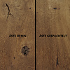 Tischplatte Eiche rund nach Maß - 3 cm dick - Eichenholz rustikal -  Gebürstet & geräuchert - Durchmesser: 35 - 130 cm - Eiche Tischplatte rund massiv - verleimt & künstlich getrocknet (HF 8-12%)