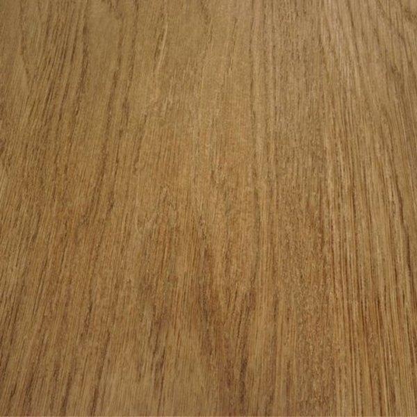 Tischplatte Eiche oval - 6 cm dick (3-lagig)  - Eichenholz A-Qualität - Gebürstet & geräuchert