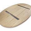 Tischplatte Eiche oval - 4 cm dick (2-lagig) - Eichenholz rustikal ellipse - Gebürstet - Eiche Tischplatte massiv - verleimt & künstlich getrocknet (HF 8-12%)