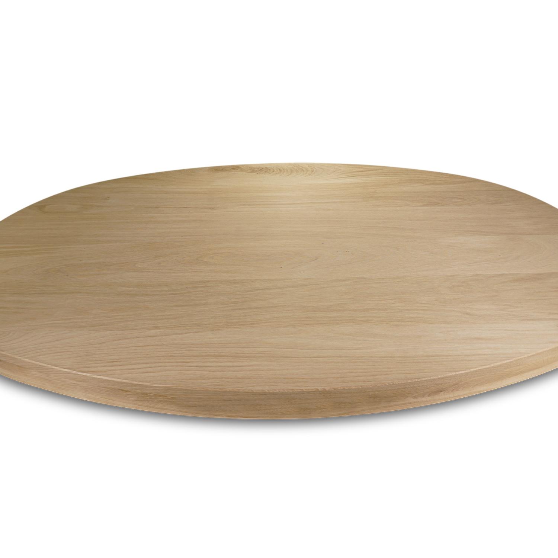 Tischplatte Eiche oval - 6 cm dick (3-lagig) - Eichenholz A-Qualität ellipse - Eiche Tischplatte aufgedoppelt - verleimt & künstlich getrocknet (HF 8-12%)