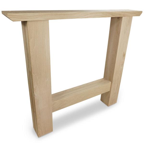 H Tischbeine Eiche (SET - 2 Stück) 10x10 cm - 85 cm breit - 72 cm hoch -  Eichenholz Rustikal