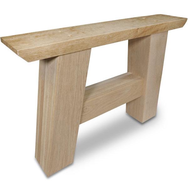A Couchtisch Beine Eiche (SET - 2 Stück) 10x10 cm - 65 cm breit -  Eichenholz Rustikal