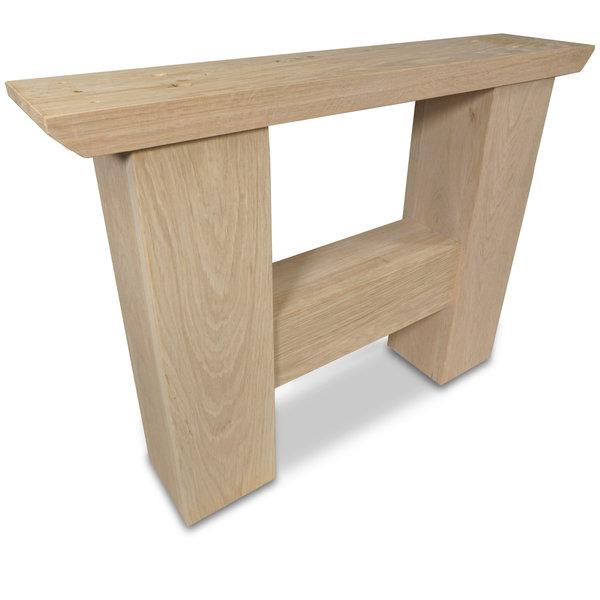 H Couchtisch Beine Eiche (SET - 2 Stück) 12x12 cm - 65 cm breit -  Eichenholz Rustikal