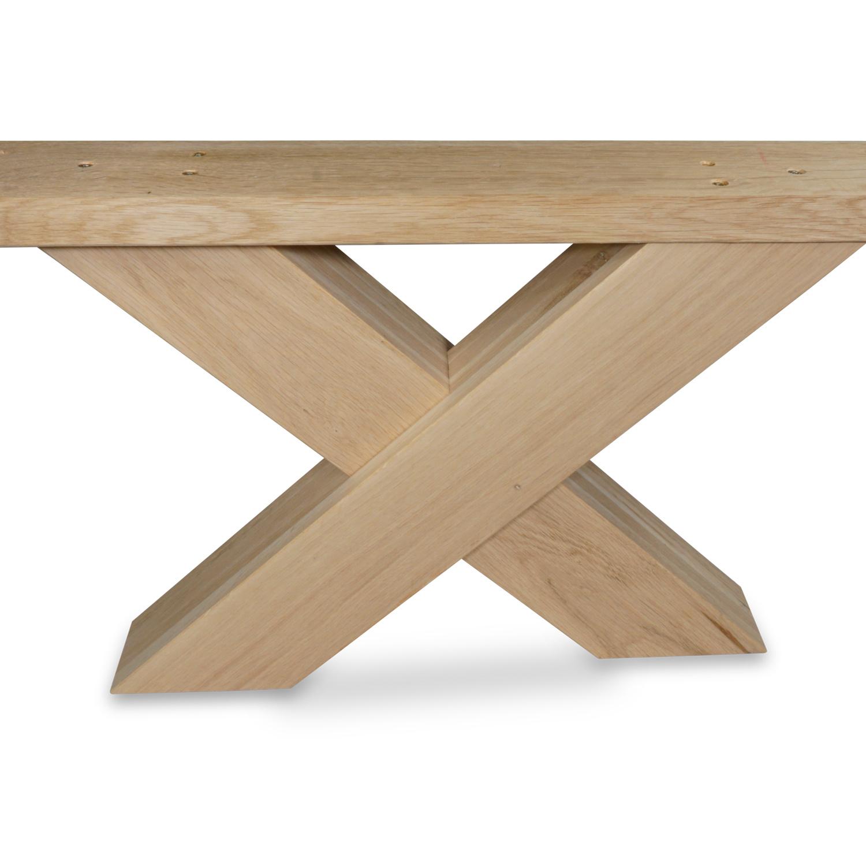 X Couchtisch Beine Eiche (SET - 2 Stück) 8x10 cm - 65 cm breit - A-Qualität Eichenholz - Massive X Couchtisch Füße / Tischbeine Couchtisch - künstlich getrocknet HF 8-12%