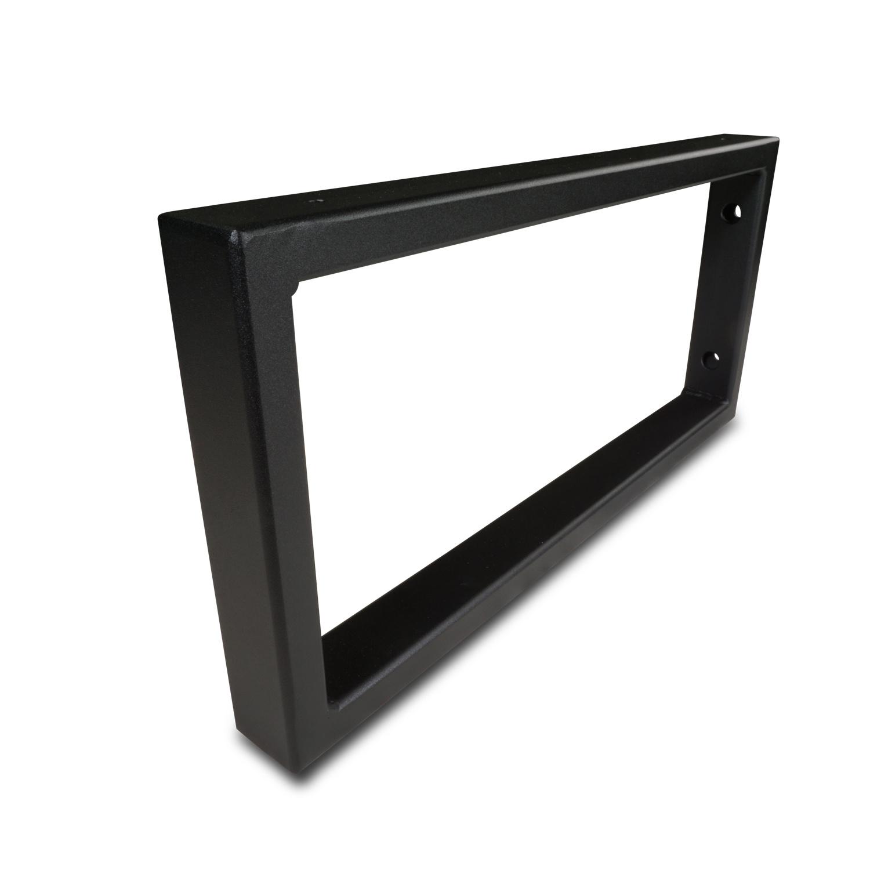 Waschtischhalterung Rechteck schwarz - SET (2 Stück) - 45x20 cm - Waschtischplatte / Handtuchhalter  Metall - 40x20x2 mm Profil - Wandhalterung Stahl – Beschichtet