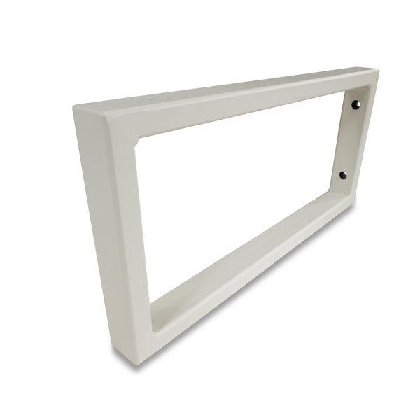 Waschtischhalterung Rechteck weiß - SET (2 Stück) - 45x20 cm - Metall – Beschichtet