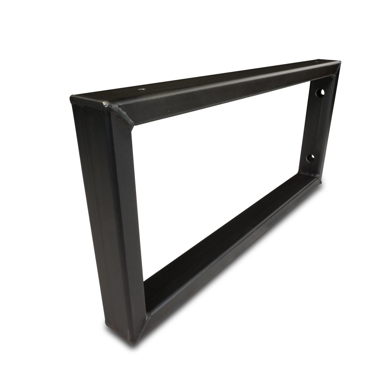 Waschtischhalterung Rechteck Stahl - SET (2 Stück) - 45x20 cm - Waschtischplatte / Handtuchhalter  Metall - 40x20x2 mm Profil - Wandhalterung Stahl – Beschichtet