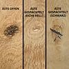 Tischplatte Eiche nach Maß - 4 cm dick (2-lagig) - Eichenholz rustikal - Gebürstet - Eiche Tischplatte massiv - verleimt & künstlich getrocknet (HF 8-12%) - 50-120x50-300 cm