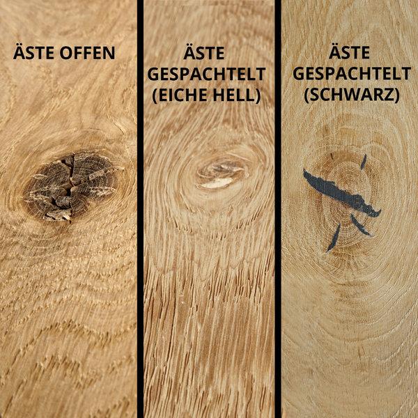 Eichen (Tisch)platte - PROBE - 2 cm dick - Eichenholz rustikal - Gebürstet