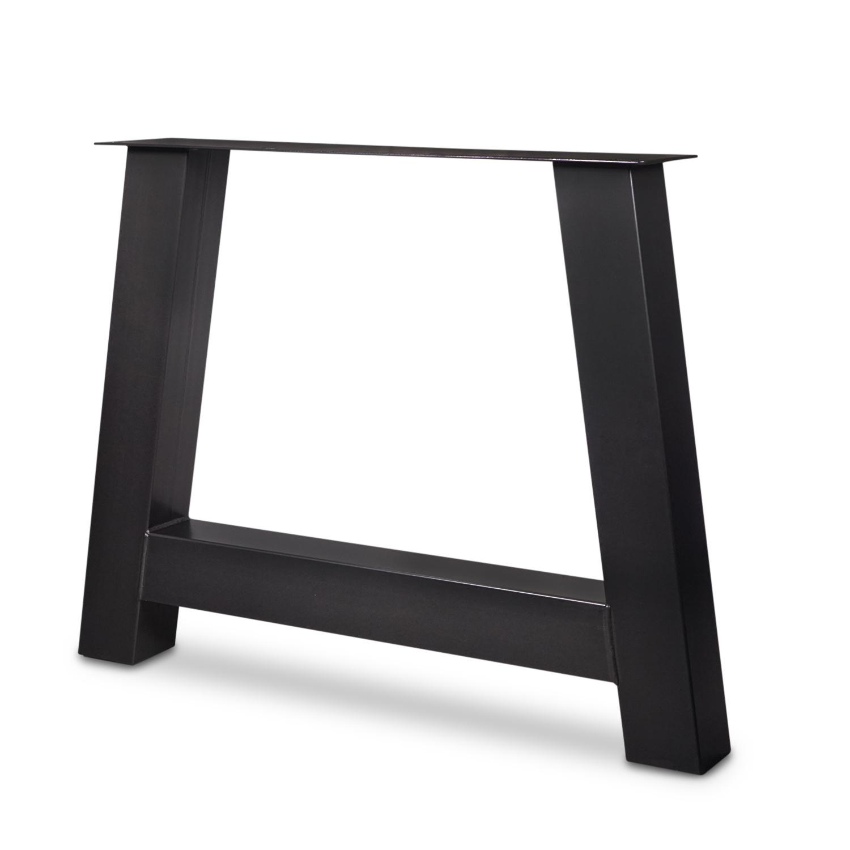 Tischbeine A Metall SET (2 Stück) - 10x10 cm - 78-94 cm breit - 72 cm hoch - A-form Tischkufen / Tischgestell beschichtet - Schwarz, Anthrazit & Weiß