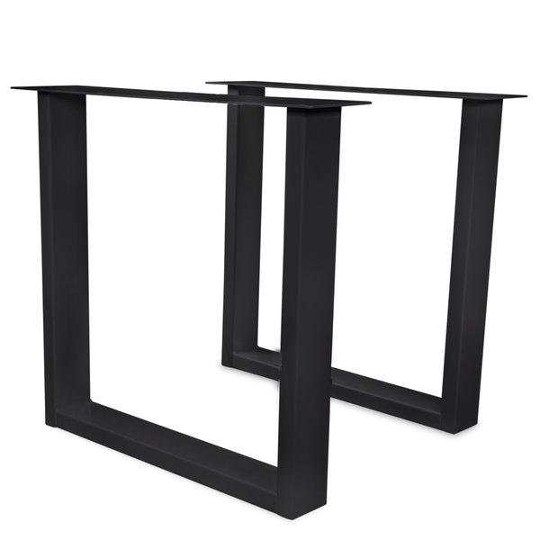 Tischbeine U Metall elegant SET (2 Stück) - 10x4 cm - 70-78 cm breit - 72 cm hoch - Beschichtet