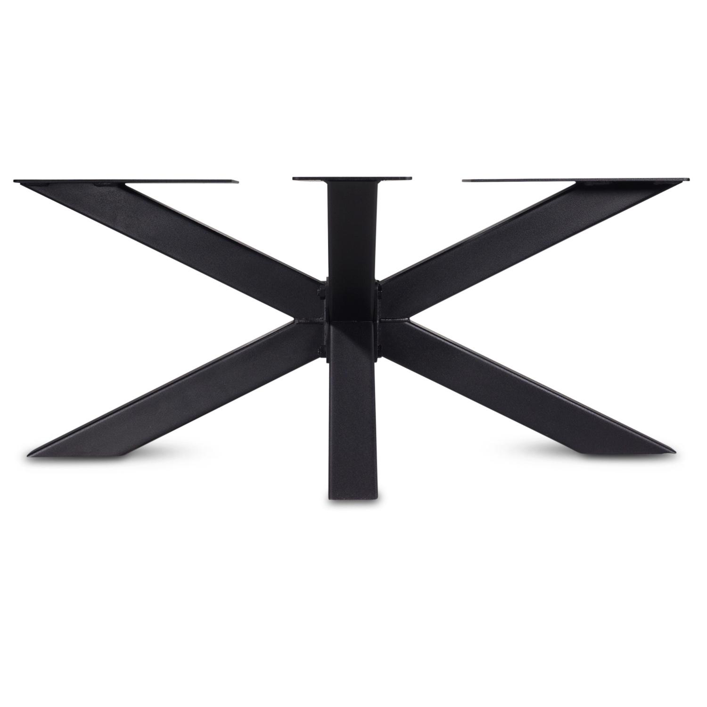 Couchtisch Gestell Metall Spider - 6x6 cm - 60x90 cm - 38 cm hoch - Stahl Couchtisch Tischgestell - Beschichtet - Schwarz, Anthrazit & Weiß