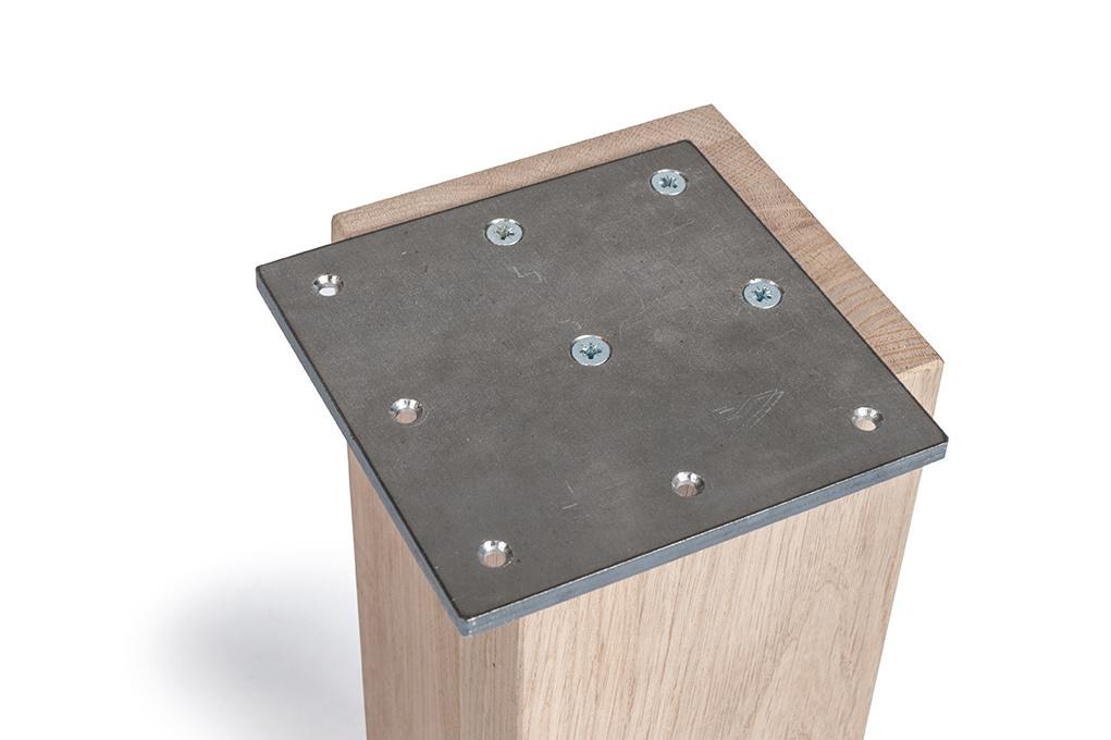 Tischbeine Eiche 12x12 cm - 78 cm hoch - Massiv verleimt - A-Qualität Eichenholz künstlich getrocknet HF 12%