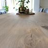 Tischplatte Eiche nach Maß - 4 cm dick - Eichenholz rustikal - Eiche Tischplatte massiv - verleimt & künstlich getrocknet (HF 8-12%) - 50-120x50-350 cm