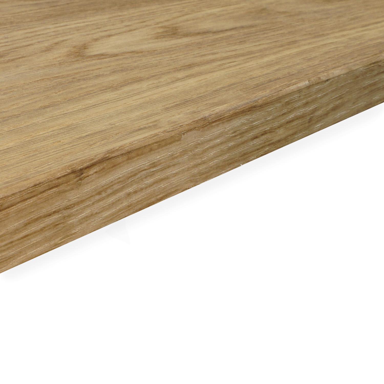 Tischplatte Eiche nach Maß - 2 cm dick - Eichenholz A-Qualität - Gebürstet & geräuchert - Eiche Tischplatte massiv - verleimt & künstlich getrocknet (HF 8-12%) - 50-120x50-300 cm