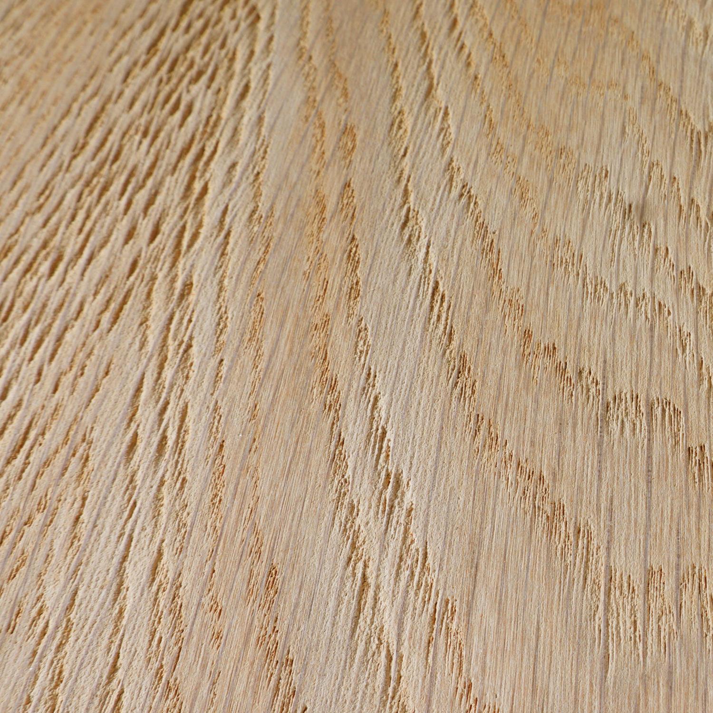 Leimholzplatte Eiche nach Maß - 6 cm dick (3-lagig) - Eichenholz A-Qualität- Sandgestrahlt - Eiche Massivholzplatte - verleimt & künstlich getrocknet (HF 8-12%) - 15-120x20-350 cm