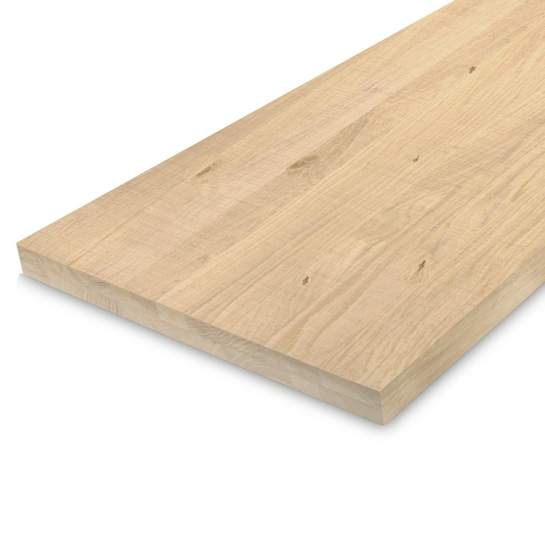 Leimholzplatte Eiche nach Maß - 4 cm dick - 2-lagig - Eichenholz rustikal - Sägerau Optik - Eiche Massivholzplatte - verleimt & künstlich getrocknet (HF 8-12%) - 15-120x20-300 cm