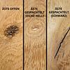 Tischplatte Eiche - Schweizer Kante - nach Maß - 4 cm dick (2-lagig) - Eichenholz rustikal - Eiche Tischplatte massiv - verleimt & künstlich getrocknet (HF 8-12%) - 50-120x50-350 cm  - Gebürstet