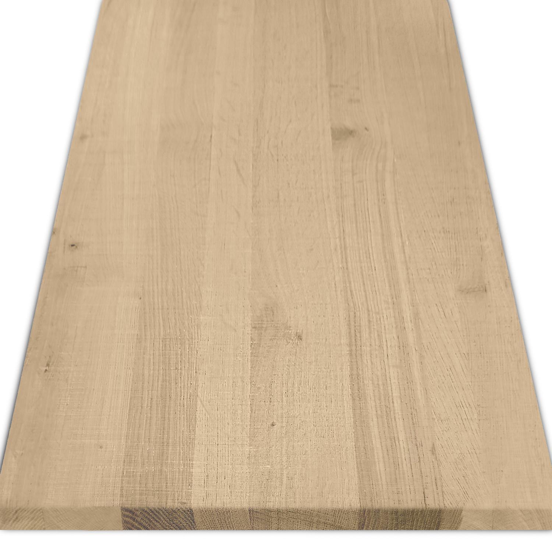 Leimholzplatte Eiche nach Maß - 3 cm dick - Eichenholz rustikal - Sägerau Optik - Eiche Massivholzplatte - verleimt & künstlich getrocknet (HF 8-12%) - 15-120x20-350 cm
