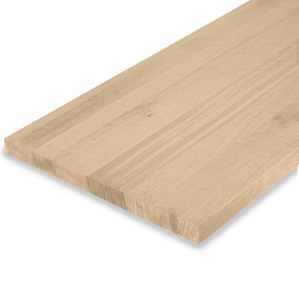 Leimholzplatte Eiche nach Maß - 3 cm dick - Eichenholz rustikal - Sägerau Optik