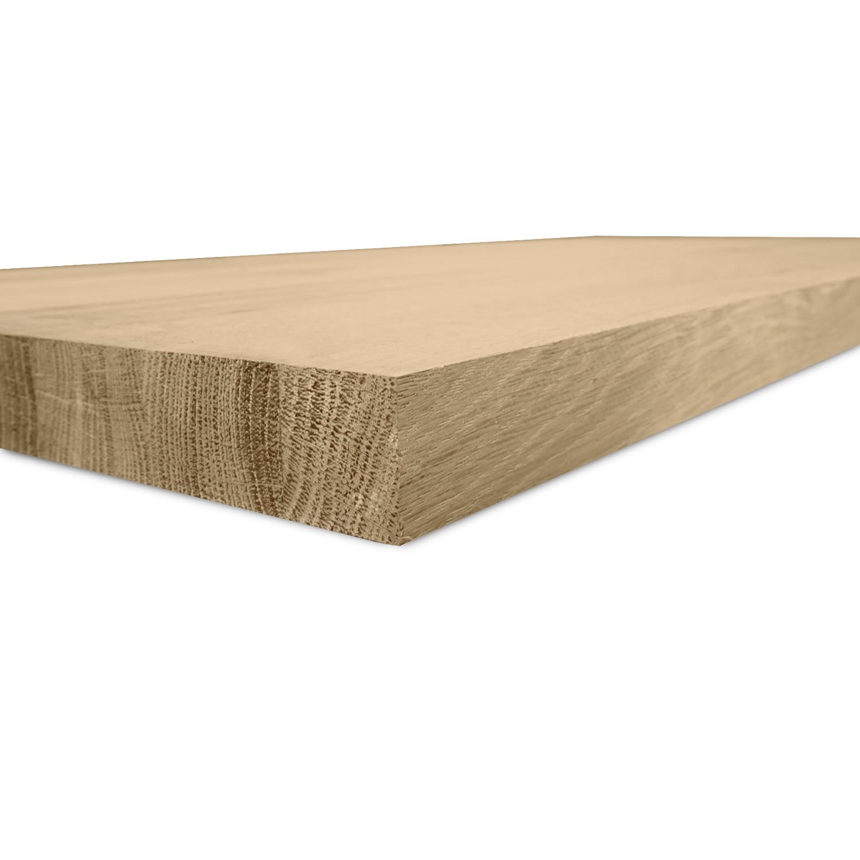 Leimholzplatte Eiche nach Maß - 4 cm dick - Eichenholz rustikal - Sägerau Optik - Eiche Massivholzplatte - verleimt & künstlich getrocknet (HF 8-12%) - 15-120x20-350 cm