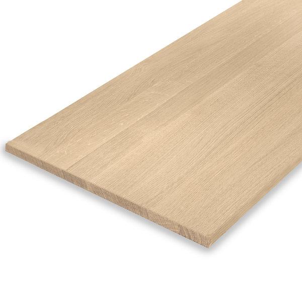 Leimholzplatte Eiche nach Maß - 2 cm dick - Eichenholz A-Qualität - Sandgestrahlt