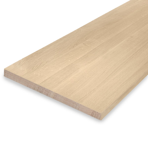 Leimholzplatte Eiche nach Maß - 3 cm dick - Eichenholz A-Qualität - Sandgestrahlt