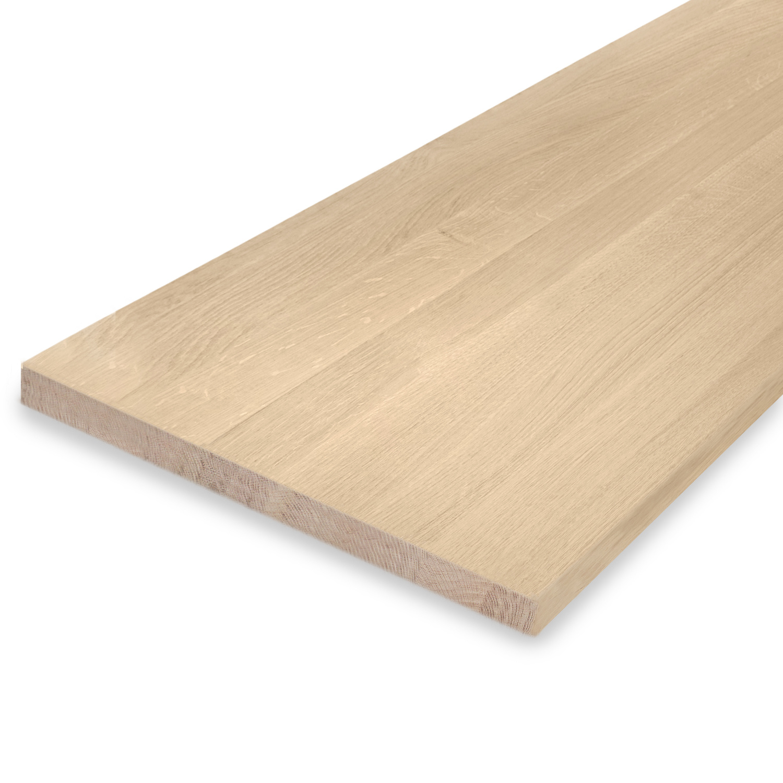 Leimholzplatte Eiche nach Maß - 3 cm dick - Eichenholz A-Qualität- Sandgestrahlt - Eiche Massivholzplatte - verleimt & künstlich getrocknet (HF 8-12%) - 15-120x20-300 cm