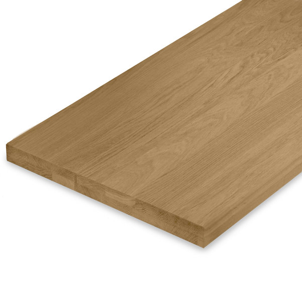 Leimholzplatte Eiche nach Maß - 4 cm dick (2-lagig) - Eichenholz A-Qualität - Gebürstet & geräuchert