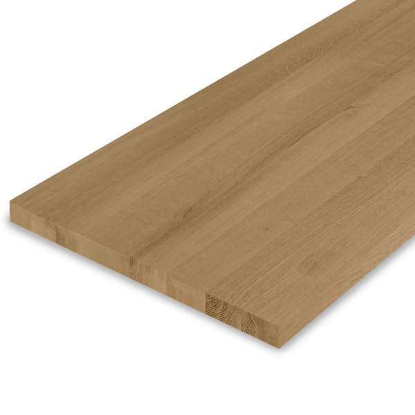 Leimholzplatte Eiche nach Maß - 3 cm dick - Eichenholz A-Qualität - Gebürstet & geräuchert