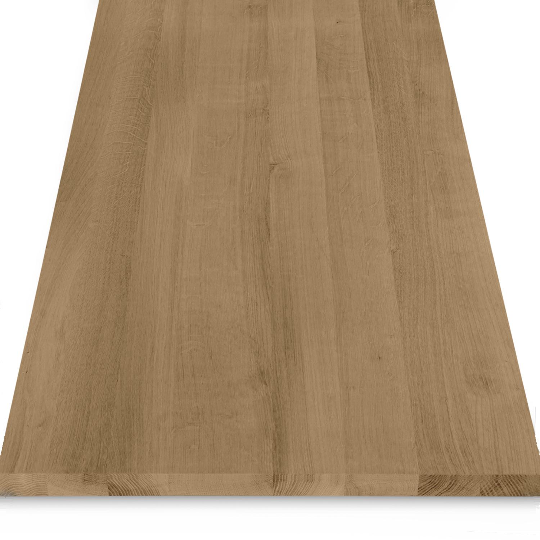 Leimholzplatte Eiche nach Maß - 2 cm dick - Eichenholz A-Qualität- Gebürstet & geräuchert - Eiche Massivholzplatte - verleimt & künstlich getrocknet (HF 8-12%) - 15-120x20-350 cm