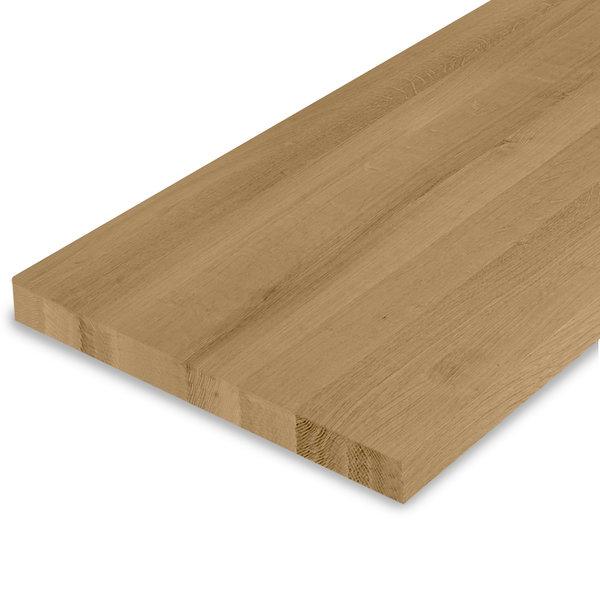 Leimholzplatte Eiche nach Maß - 4 cm dick - Eichenholz A-Qualität - Gebürstet & geräuchert
