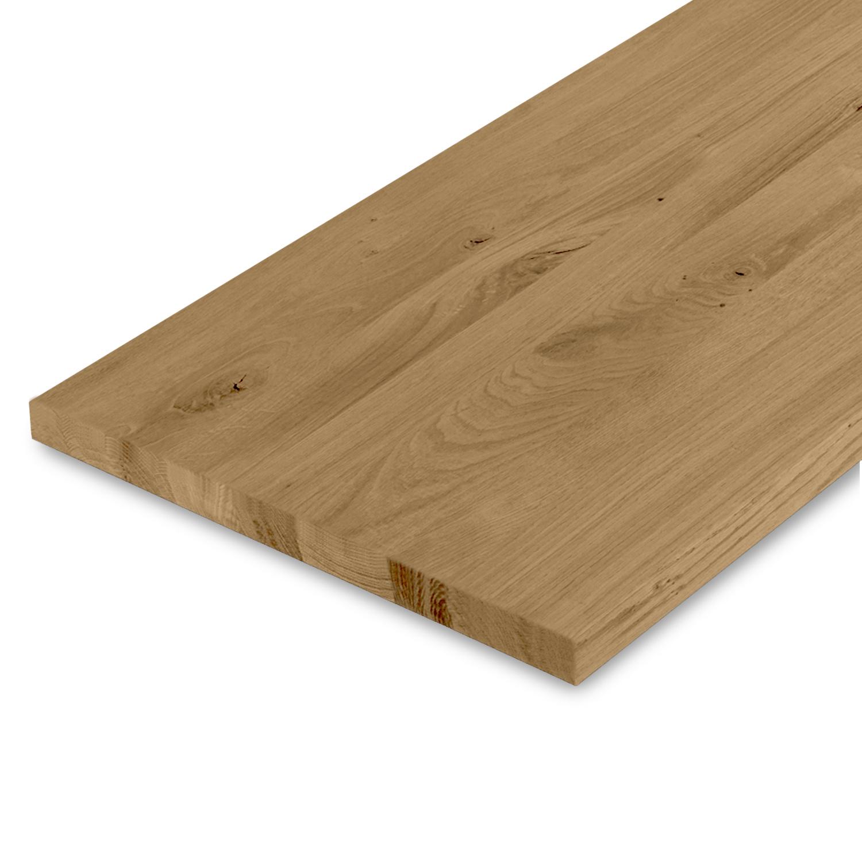 Leimholzplatte Eiche nach Maß - 3 cm dick - Eichenholz rustikal - Gebürstet & geräuchert - Eiche Massivholzplatte - verleimt & künstlich getrocknet (HF 8-12%) - 15-120x20-350 cm